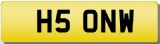 NW 5 ONW 50 FIFTY INITIALS Private CHERISHED Registration Number Plate